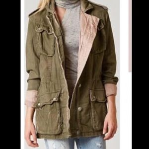 Free People Double Cloth Military Style Jacket